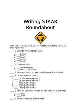 Writing STAAR Roundabout