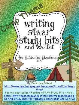 STAAR Writing Study Bits for foldables, flashcards, etc.
