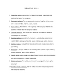 Writing STAAR terms study sheet and quiz (list 1)