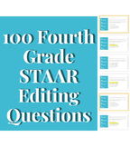 100 Writing STAAR Editing bellringers (includes special offer*)