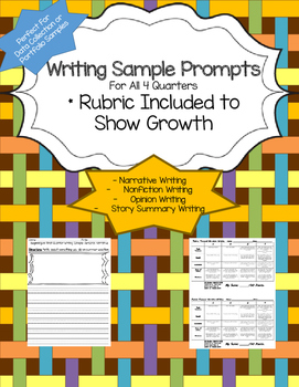 Writing Sample Data Collection- Quarterly Assignments
