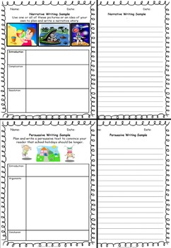 Writing Sample Templates Back to School or End of Year Fun, Printable Worksheet