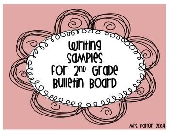 Writing Samples for Bulletin Board