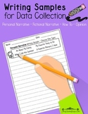 Writing Samples for Data Collection