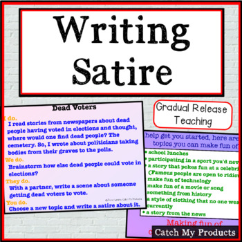 Writing Satire By Catch My Products Teachers Pay Teachers
