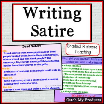 Writing Process :  Satire for Promethean Board