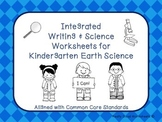 Writing & Science Worksheets for K Earth Science