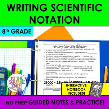 Writing Scientific Notation Notes