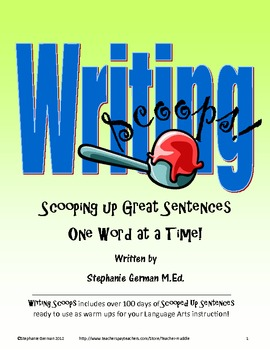 Writing Scoops - Building Great Sentences
