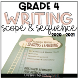 Writing Scope & Sequence w/Daily Activities and Calendar: