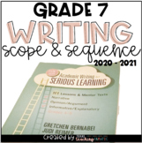 Writing Scope & Sequence w/Daily Activities and Calendar: 7th Grade