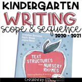 Writing Scope & Sequence w/Daily Activities and Calendar: Kindergarten