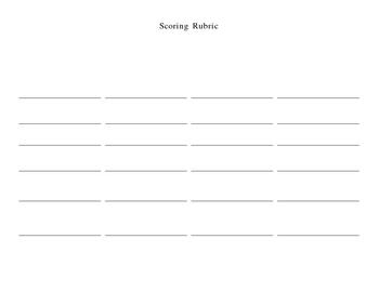 Writing Scoring Rubric