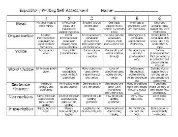 Writing Self-Assessment (Expository)