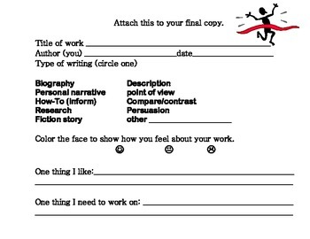 Writing Self Assessment Form