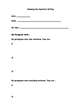 Writing Self-Assessment for Students
