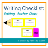 """Writing """"Self Check"""" Anchor Chart - Editing - With """"I Can"""" Statements!"""