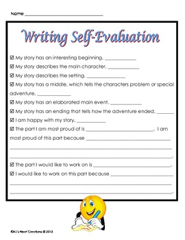 Writing Self-Evaluation