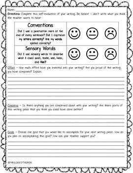 Writing Self Evaluation
