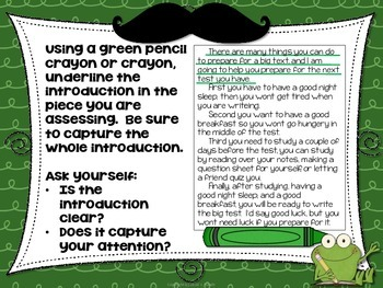 Writing Self Revision Activity