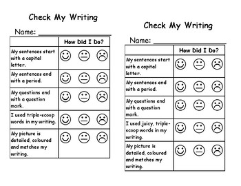 Writing Self-assessment for Primary Learners