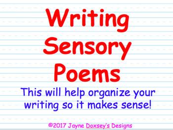 Writing Sensory Poems
