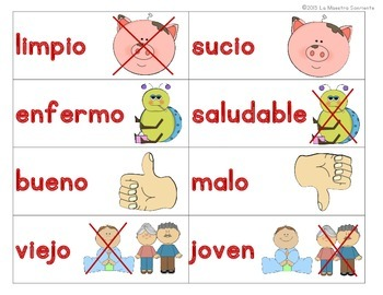 Writing: Sentence Building Cards: Adjectives and Adverbs Only (Spanish)