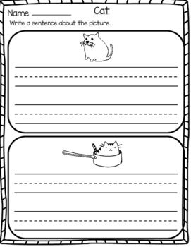 cvc words writing sentence worksheets for kindergarten by mzat cvc words writing sentence worksheets for kindergarten