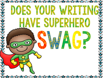 Writing-Sentence SWAG- SUPERHERO theme