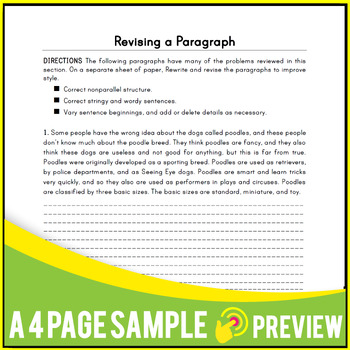 Writing Sentences Activities | Worksheets | Reviews | Middle School | Gr 7-8