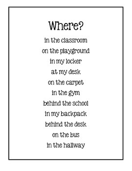 Writing Sentences ~ Adding When And Where ~ Back To School
