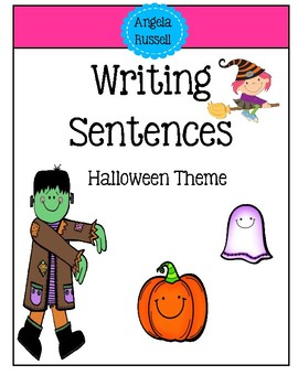 Writing Sentences - Halloween Theme
