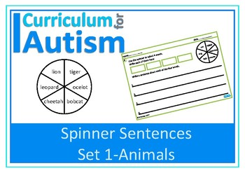 Writing Sentences Animal Facts Autism Special Education