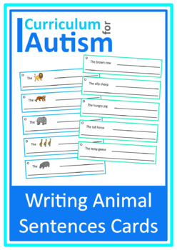 Writing Sentences Animal Theme Autism Special Education ESL Speech