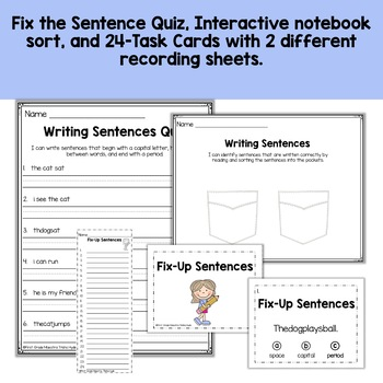Writing Sentences Basics With Poster