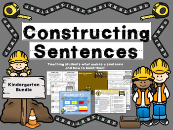 "Writing Sentences- ""Constructing Sentences: The Kindergarten Bundle"""