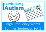 Writing Sentences High Frequency Sight Words Autism Reading Literacy ESL