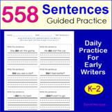 Writing Sentences (K, 1st, 2nd Grade)