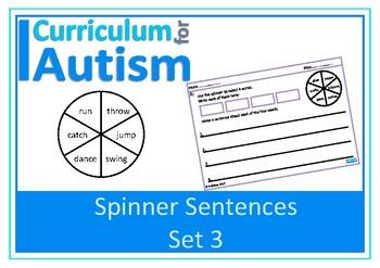 Writing Sentences Leisure Hobbies Sports Autism Special Education