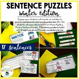 Writing Sentences - Mystery Pictures Winter