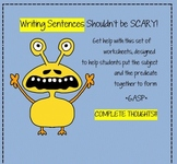 Writing Sentences: Practice Printables with subjects, pred