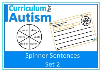Writing Sentences Science Theme Autism Special Education