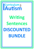 Writing Sentences Spinner Sheets Autism ESL Literacy