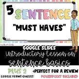 Writing Sentences - Sentence Basics - Google Slides, Forms