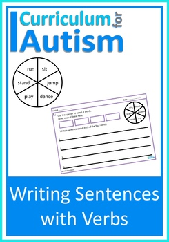 Writing Sentences Verbs Autism Special Education ESL