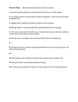 Writing Sentences | Worksheets | Activities | Practice | Gr 9-10 | Part [2]
