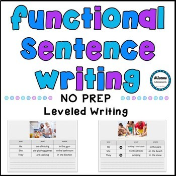 Writing Sentences and Describing Pictures BUNDLE
