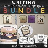 Writing Sentences and Paragraphs Bundle