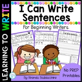 Writing Sentences for Beginning Writers  NO PREP Worksheets
