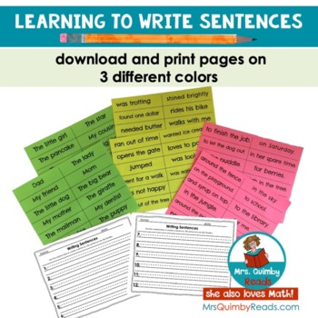 Writing Sentences - Building Sentences - Learning to Write